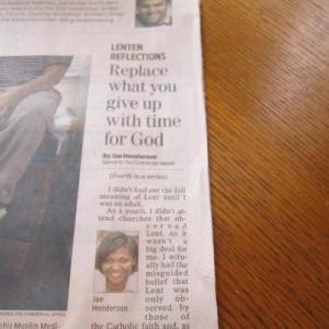 Lenton Reflection Newspaper